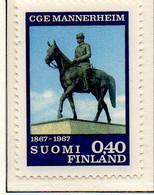 PIA - FINLANDIA - 1967 : Centenario Della Nascita Del Generale Carl Gustav Emil Mannhereim  - (Yv 596) - Neufs