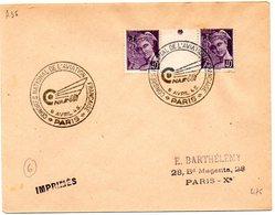 AVION = PARIS 1945 = CACHET   Illustré = CONGRES NATIONAL ANNUEL DE L.AVIATION FRANCAISE - Marcophilie (Lettres)