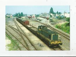 MAYENNE (53) 217 LIGNE DE CAEN A LAVAL LOCO BB 63599 MANOEUVRANT EN GARE 1987 - Mayenne