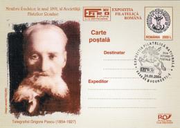 79131- EFIRO PHILATELIC EXHIBITION, GRIGORE PASCU- TELEGRAPHIST, POSTCARD STATIONERY, 2004, ROMANIA - Enteros Postales