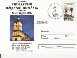 79167- RASINARI VILLAGE'S SONS FOLKLORE FESTIVAL, CULTURE, SPECIAL COVER, 2002, ROMANIA - Kulturen