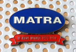 Pin's Championnat Sport Automobile MATRA Remporte 24H Du Mans 1972 - 1974 - Pin