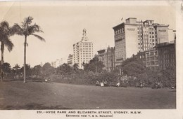 Carte 1930 HYDE PARK AND ELIZABETH STREET , SYDNEY (building) - Sydney