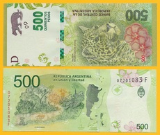 Argentina 500 Pesos P-365 2016 (Series F) UNC Banknote - Argentina