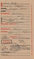 WW1 - 1918 NEVERS - Demande De Carte Individuelle D'Alimentation - Documents Historiques