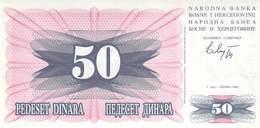50 Dinar Banknote Bosnien-Herzogowina 1992 - Bosnia Erzegovina