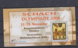 Germany Souvenir Sheet 2008 Chess Olympiade 2008 Schach Made By Sporthilfe - Not Postal Valid  MNH/**  (H53) - Timbres