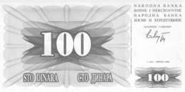 100 Dinar Banknote Bosnien-Herzogowina 1992 - Bosnia Erzegovina