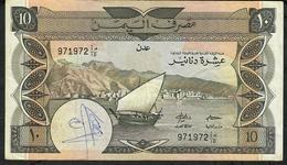YEMEN D.R. P9b 10 DINARS 1984 Signature 4 FINE/writtings - Yemen