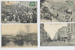 Lot 9 CPA BREST: Marché Aux Fraises, Place, Pont Etc... - Brest