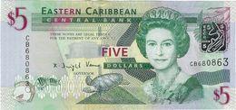 EAST CARIBBEAN STATES - 5 Dollars Nd.(2008) UNC P.47 - Oostelijke Caraïben