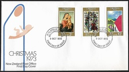 1973 - NEW ZEALAND - FDC + SG 1034/1036 + WELLINGTON - FDC