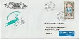 Polynésie Opération Clipperton 2005 Lettre Pour La France - Polynésie Française