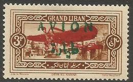 Lebanon - 1925-7 Bleriot & AVION Overprints On 3pi MNH **  (see Description) - Great Lebanon (1924-1945)