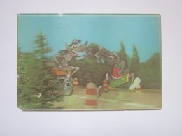 3d Lenticular Postcard Stereo Wolf Hare Cartoon - Stereoscope Cards