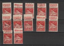 Algérie Lot 29 Timbres Oblitérés Avec Bandes Pub Diverses - Algerien (1924-1962)