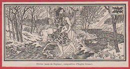 Mois De Janvier. Mois De Neptune. Composition D'Eugène Grasset. Larousse 1920. - Vieux Papiers