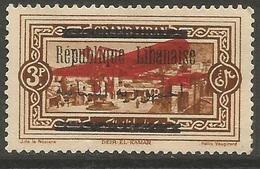 Lebanon - 1928 Republique Overprint On 1927 Issue 3pi MNH **  Sc C18 - Great Lebanon (1924-1945)