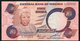 NIGERIA P24a 5 NAIRA 1984 Signature 6 VF NO P.h. - Nigeria