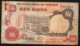 NIGERIA P15a 1 NAIRA 1973 Signature 1 FINE NO P.h. - Nigeria