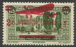 Lebanon - 1928 Republique Overprint On 1927 Issue 2pi/1.25pi  MNH ** - Great Lebanon (1924-1945)