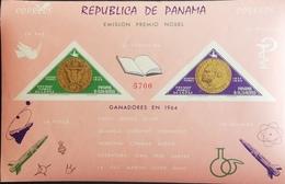 Panama 1965 Alfred Nobel Founder Of Nobel Prize  S/S  IMPERF. - Panama
