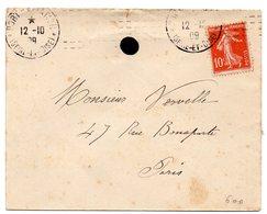 AVION = PORT AVIATION 1909 = FLAMME CHAMBON - Marcophilie (Lettres)