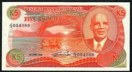 MALAWI P20b 5 KWACHA 1988 #J/15   XF - Malawi