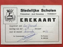TURNHOUT - EREKAART - STEDELIJKE SCHOLEN - PRINSENSTRAAT - JOZEF SIMONSLAAN - 1966 - LUC DANEELS - Turnhout
