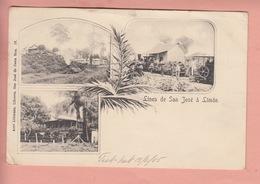 OLD POSTCARD 1905 - COSTA RICA - LINEA DE SAN JOSE A LIMON - POSTALLY USED - Costa Rica