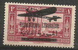Lebanon - 1929 Republique Airmail Overprint On 1pi  MNH **  Mi 151  Sc C34 - Great Lebanon (1924-1945)