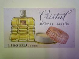 """GP 2019 - 1267  CARTE Parfumée  """"CRISTAL""""  Poudre - Parfum  (LESOURD  -  Paris)   XXX - Cartes Parfumées"""