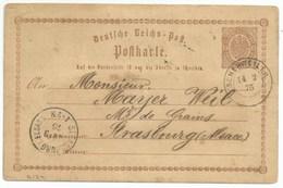 R124 - Provisoire SCHERWEILER - 1875 - Sur Entier Postal 1/2 Groschen - SCHERWILLER Bas Rhin - - Storia Postale