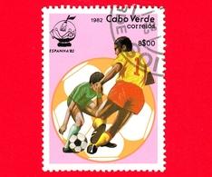 CAPO VERDE - Nuovo Oblit. - 1982 - Sport - Spagna '82 - Mondiali Di Calcio - Scena Di Gioco - 8 - Isola Di Capo Verde