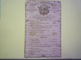 GP 2019 - 1270  CERCLE PHILHARMONIQUE  :  Programme Du CONCERT Du 29 Février  1868  (avec Commentaire Manuscrit)   XXX - Musique & Instruments