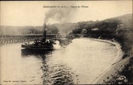 Cp Mericourt Yvelines, Depart De L'Ecluse, Lastkahn, Schleuse - France
