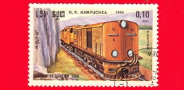 KAMPUCHEA - Cambogia - 1984 - Ferrovie - Locomotive - BB 1002 France 1966 - 0.10 - Kampuchea