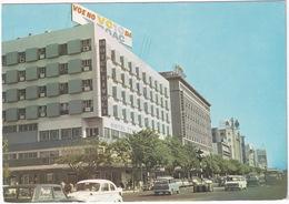 Lourenco Marques: VOLVO PV 444/544, HILLMAN SUPER MINX ESTATE, MORRIS 1100 - Hotel 'Tivoli', Rep. Avenue - (Mozambique) - Toerisme