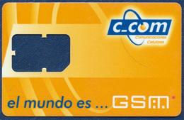 CUBA C_COM GSM (SIM) CARD FRAME PERFECT USED - Cuba