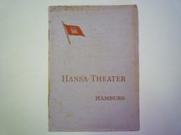 GP 2019 - 1273  HANSA-THEATER  HAMBURG  1951   XXX - Programmes