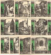 Notgeld Quedlinburg 10 X 50 Pf 1922 - [11] Local Banknote Issues