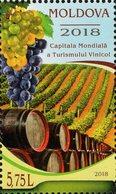 Moldova - 2018 - World Capital Of Wine Tourism - Mint Stamp - Moldavia