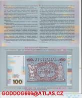 New UKRAINE 100 HRIVNA Folder, NEW - Ucraina