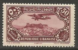 Lebanon - 1930 Airmail Kabelias 50pi  MNH **  Mi 194 Sc C47 - Great Lebanon (1924-1945)