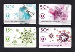 Carte Cadeau SUPER U  BRETIGNOLLES SUR MER  (85).   Gift Card.  Geschenkkarte - Cartes Cadeaux