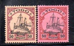 APR1118 - TOGO 1900 , 2 Valori Diversi Linguellati *  (2380A) . - Colonia: Togo
