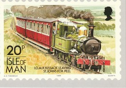 20p Isle Of Man  I.O.M.R. 'Kissack' Leaving St. John's For Peel - Stamps (pictures)