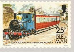 25p Isle Of Man  I.O.M.R. 'Hutchinson' Leaving Douglas Station - Stamps (pictures)