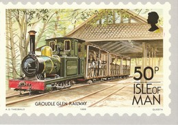 50p Isle Of Man Groudle Glen Railway - Stamps (pictures)