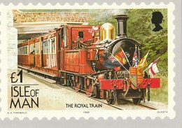 1Pound Isle Of Man  The Royal Train - Stamps (pictures)